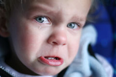 Crying Baby. A close-up of a baby crying royalty free stock photos