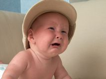 Crying baby. Face of the crying baby Royalty Free Stock Image