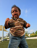 Crying Baby. Baby at the park crying Stock Images