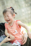 Crying baby. A chinese lovely baby crying Royalty Free Stock Photography