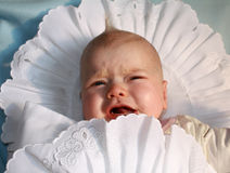 Crying baby boy royalty free stock photography