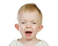 Crying baby boy Stock Photos