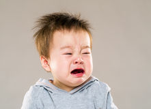 Crying baby boy Royalty Free Stock Image