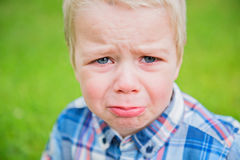 Crying baby boy Royalty Free Stock Photos