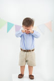 Crying baby boy Royalty Free Stock Photo