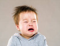 Crying baby boy Stock Images