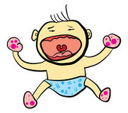 Crying Baby Fun Cartoon Royalty Free Stock Images