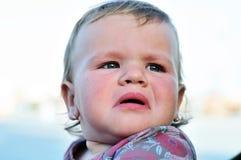 Crying baby girl Stock Image
