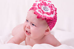 Crying baby girl Royalty Free Stock Images