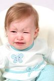Crying baby girl Stock Images