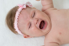 Crying baby-girl Stock Photo