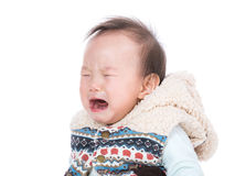 Crying baby girl Stock Photos
