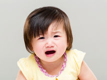 Crying baby girl Royalty Free Stock Photo