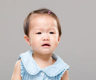 Crying baby girl Royalty Free Stock Image
