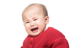 Crying baby girl Royalty Free Stock Photos