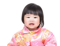 Crying baby girl Stock Photos