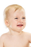 Crying Baby girl portrait Royalty Free Stock Photo