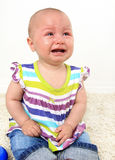 Crying baby girl Royalty Free Stock Photography