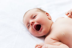 Crying baby. Stock Image