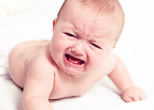 Crying Baby on White Royalty Free Stock Photo