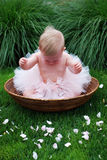 Crying Ballet Baby - Vertical Royalty Free Stock Photo