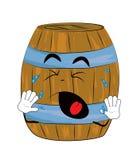 Crying Barrel cartoon Stock Photos