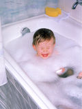 Crying in the Bathtub Royalty Free Stock Images
