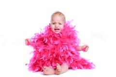 Crying beautiful female baby Stock Image