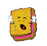 Crying Biscuit cartoon Stock Photography