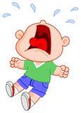 Crying boy. Cartoon illustration of a crying boy Stock Image