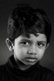 Crying boy. Black and white image of a crying kid Stock Images
