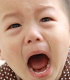 Crying boy face. A crying chinese boy face Royalty Free Stock Photography
