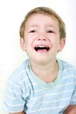 Crying boy over white Stock Photography