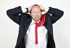 Crying businessman Stock Image