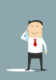 Crying businessman standing in a pool Royalty Free Stock Photos