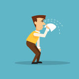 Crying businessman. Vector illustration Royalty Free Stock Photography