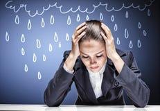 Crying businesswoman Stock Photos