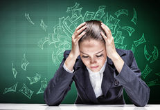 Crying businesswoman Royalty Free Stock Image