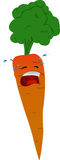Crying carrot Stock Photography
