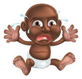 Crying cartoon baby Stock Photo