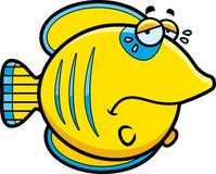 Crying Cartoon Butterflyfish Royalty Free Stock Photos