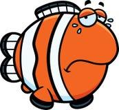 Crying Cartoon Clownfish Royalty Free Stock Photo