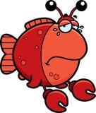 Crying Cartoon Imitation Crab Royalty Free Stock Image