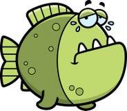 Crying Cartoon Piranha Stock Images