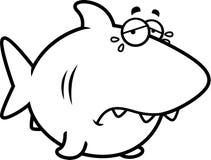 Crying Cartoon Shark Royalty Free Stock Photo