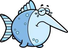 Crying Cartoon Swordfish Stock Photos