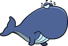 Crying Cartoon Whale Royalty Free Stock Photos