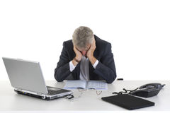 Crying CEO. Or manager at the office royalty free stock images