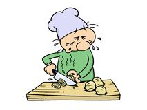 Crying chef Royalty Free Stock Images