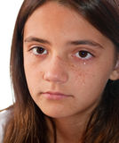 Crying Child. A child with tears on her face Royalty Free Stock Photo